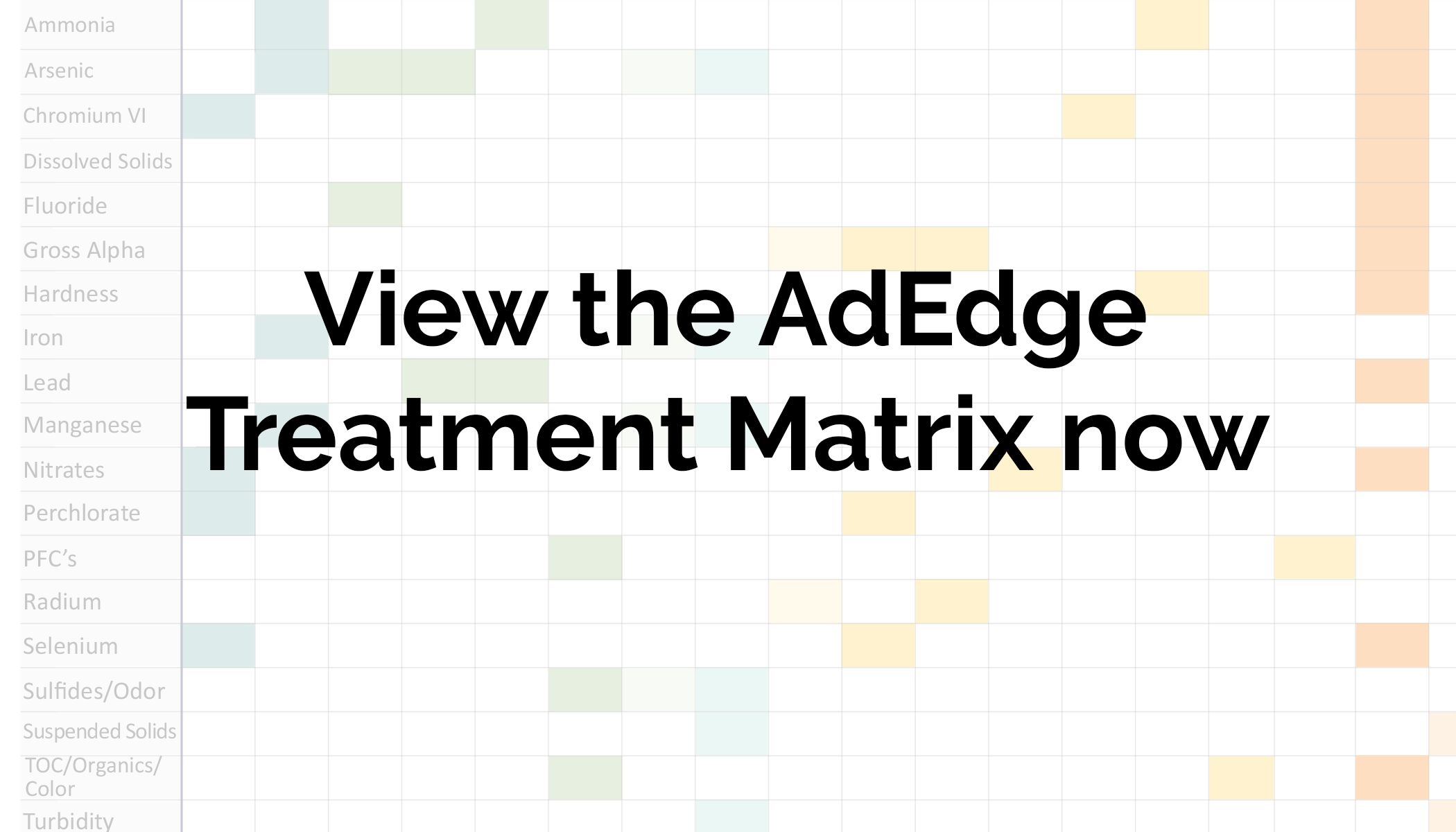 AdEdge Water Technologies Treatment Matrix
