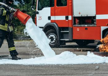 PFAS are present in some firefighting foam